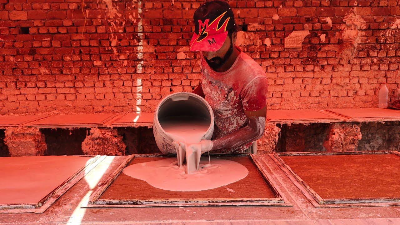 How To Make Gypsum Ceiling Board | Gypsum Tiles Making | Making Gypsum Board | Gypsum Board