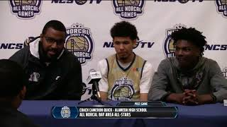 Post game press conference - boys bay area vs sacramento all-stars