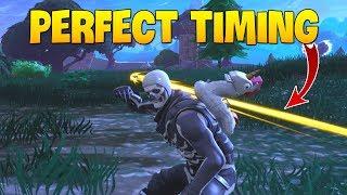 10 mins Perfect Timing Funny Moments 🔥 LIKE A BOSS FORTNITE #8 🔥