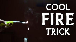 An amazing science trick with smoke and a flame