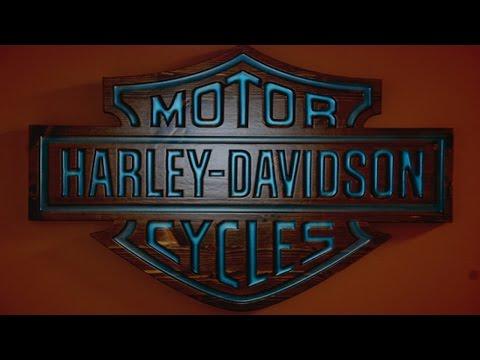 Harley Davidson Glow Sign