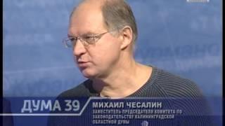 """2016-11-15 Программа """"Дума39"""" М.Ю.Чесалин-А.В.Никулин"""