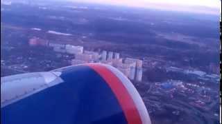 Take Off Airbus A320-214. Aeroflot. Sheremetyevo International Airport