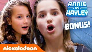 Annie & Hayley's NEVER-BEFORE-SEEN School Lookbook Thrift Haul! 👚📚 | Fashion Faceoff | Nick