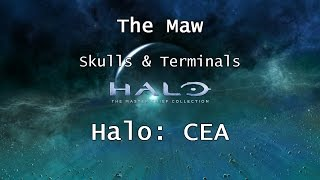 Halo: MCC [Halo: CEA] | Skulls & Terminals - Mission 10 - The Maw | Collectibles