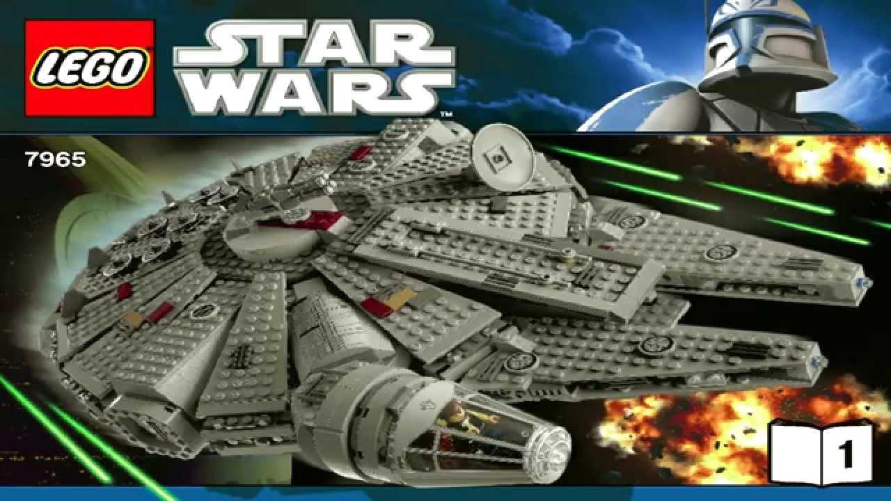 7965 Millennium Falcon Lego Star Wars Complete Instruction Booklet