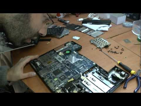 Como desmontar um Toshiba Satellite A110-160 Disassembly