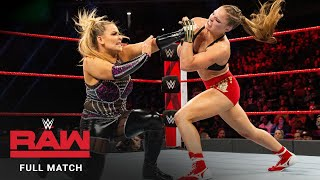 FULL MATCH - Ronda Rousey vs. Natalya - Raw Women's Title Match: Raw, December 24, 2018