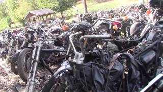 Big Motorcycle Junkyard !