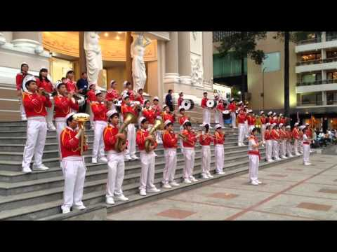 Đội nhạc kèn Võ Thành Trang chúc mừng năm mới