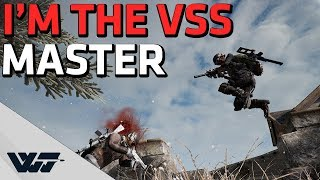 THE VSS MASTER - Jump killing and long range spray - PUBG