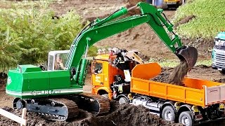 FANTASTIC RC CONSTRUCTION SITE SCALE 1:14 CONSTRUCTION MACHINES AT WORK / Faszination Modellbau 2016