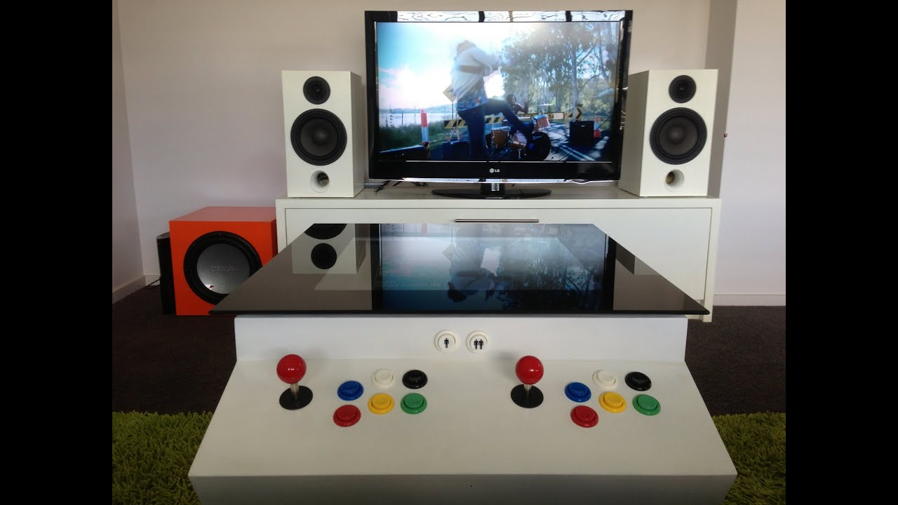 Home Made 2 Player Arcade Coffee Table ultimate coffee table