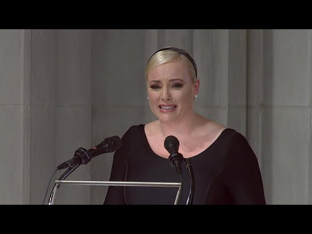 "Meghan McCain says America ""always great"" in tribute to father"