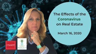 Coronavirus and the Real Estate Market TODAY-March 2020