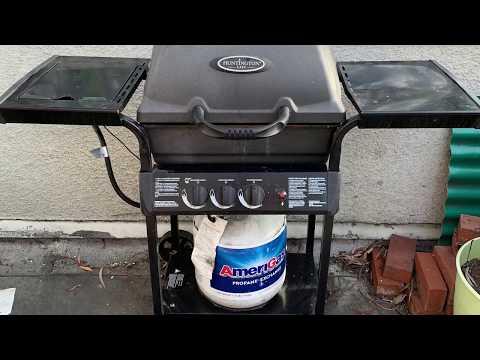 Huntington cast gas grill rebuild