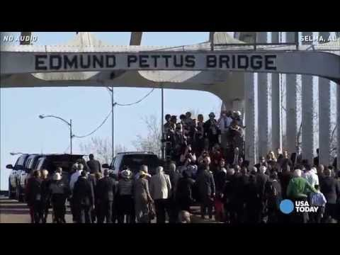 Watch Obama walk across Edmund Pettus Bridge in Selma