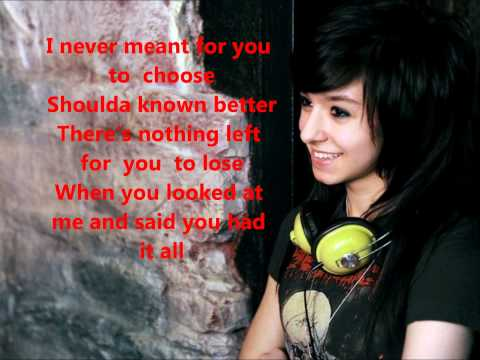 Christina Grimmie Unforgivable lyrics