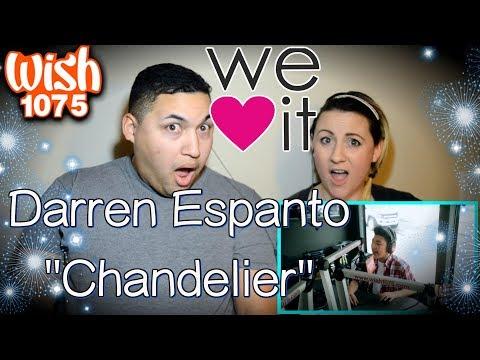 Darren Espanto - Chandelier (Sia) LIVE Cover on Wish FM 107.5 Bus|COUPLES REACTION
