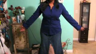 DIY- Baby Phat Jeans to a Skirt