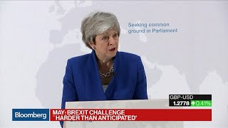 U.K.'s May Says Brexit Challenge Was 'Harder Than I Anticipated' thumbnail