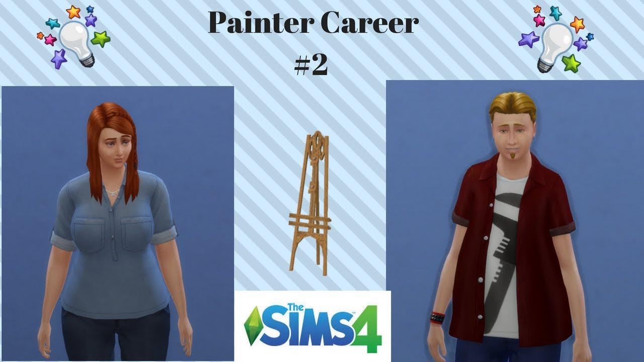 Sims 4 Watercolor Dabbler Painter Career 3 Youtube