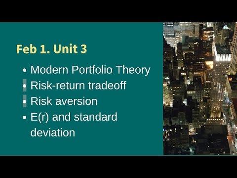 160201 MBA Unit 3 Ch 6 7 9 Modern Portfolio Theory