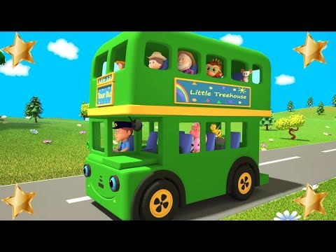Wheels On The Bus Green | Kindergarten Nursery Rhyme | Song For Toddler by Little TreeHouse