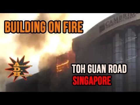 Building on Fire at 30 Toh Guan Road Singapore