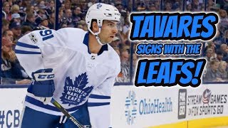 John Tavares Signs with Toronto Maple Leafs! | Auddie James