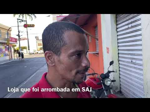 Loja de celular que foi arrombada em Santo Antônio de Jesus/BA