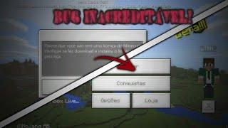 NOVO BUG! COMO REMOVER A LICENÇA E CONECTAR NA XBOX NO MINECRAFT PE 1.2.5/1.2.8 + NOVIDADES!!!
