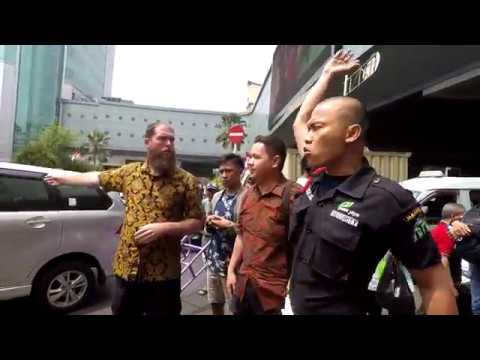 Angry security guard loses his mind when I preach outside largest market in Indonesia
