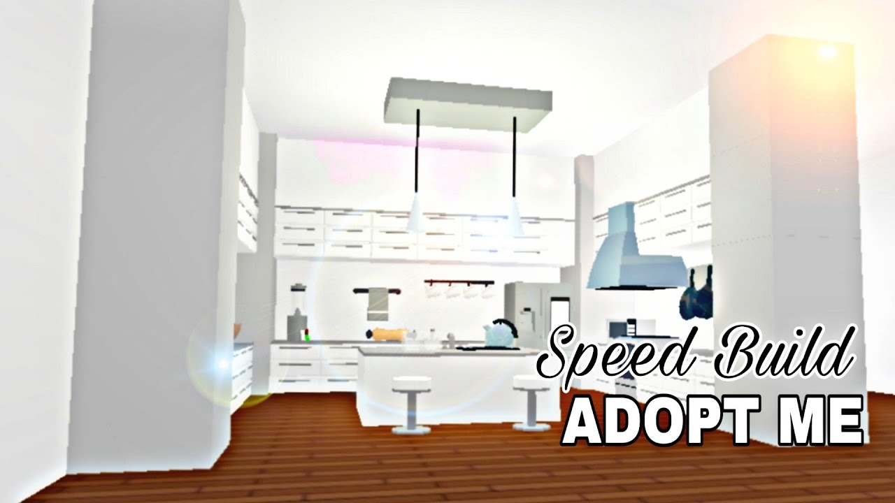 Aesthetic Kitchen Adopt Me Speed Build Youtube