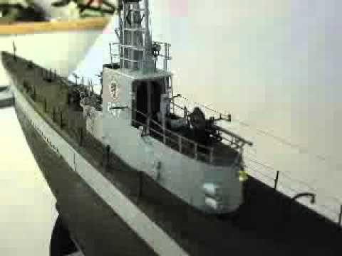 Model of USS Trigger, SS-237, Skipper CDR. David Connole