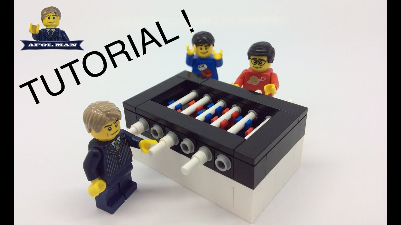 LEGO FOOSBALL TABLE TUTORIAL! AFOL MAN   YouTube