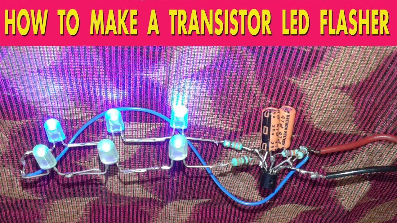 How To Make A Transistor Led Flasher Youtube Simple Running Chaser Circuit Using 3 Transistors