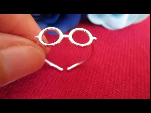 Nhẫn bạc nữ mắt kính