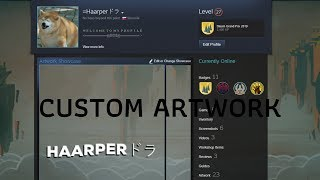 how to make custom artwork showcase on your steam profile