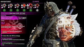 SHADOW OF WAR - NEW UNIQUE BONE-LICKER  OVERLORD DIFFICULTY NEMESIS IN DESERT