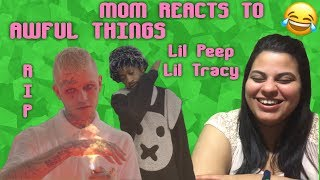 Mom REACTS to Lil Peep - Awful Things ft. Lil Tracy (Official Video) *RIP LIL PEEP*
