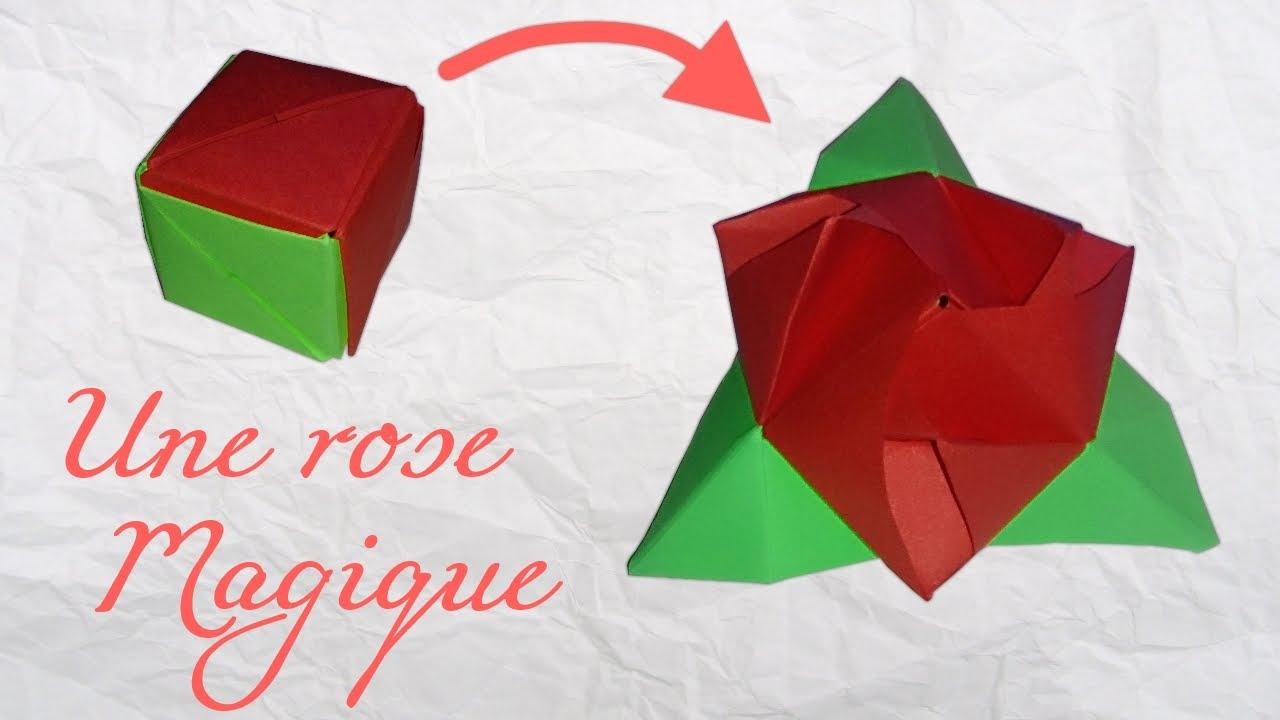 Extrêmement Origami ! Une rose magique. - YouTube DG84