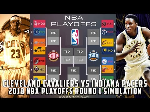 Cleveland Cavaliers vs Indiana Pacers! 2018 NBA Playoffs Round 1 Simulation