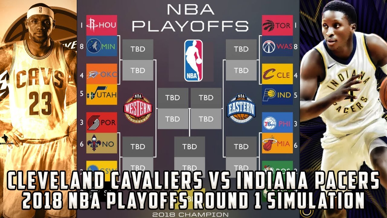 huge selection of fbb93 99c7b Cleveland Cavaliers vs Indiana Pacers! 2018 NBA Playoffs Round 1 Simulation
