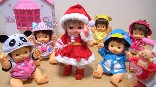 メルちゃんサンタが子供たちにプレゼントを配りに行くお話。途中どろぼ...