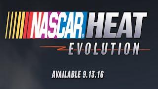 nascar heat evolution announced release sept 13 2016 ps4 xboxone pc