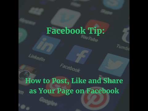 How to Post as Your Fan Page on Other Fan Pages | Facebook Page Post