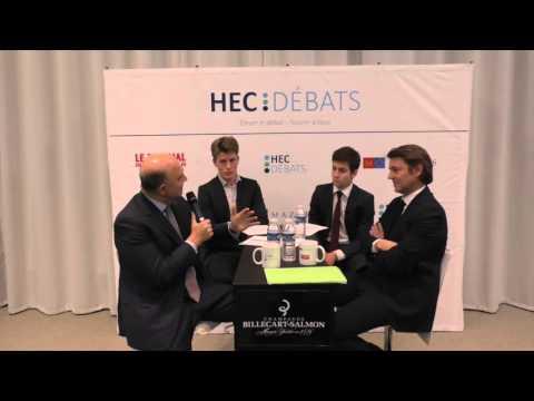 François Baroin et Pierre Moscovici à HEC Débats