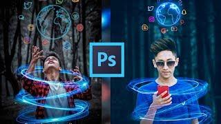 Neon Social Photo Editing | Photoshop cc and cs6 | Tapasheditz
