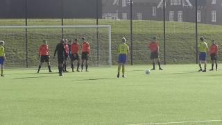 16 feb 2019 VV De Meern O16-1 - Legmeervogels O16-2 bkr 4-0 Mats pareert vrije trap Legmeervogels